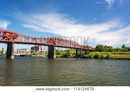 Broadway Bridge In Portland, Oregon