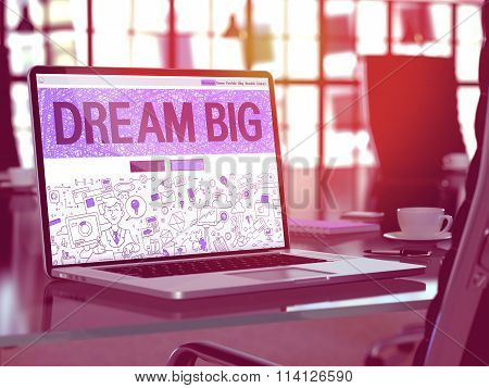 Laptop Screen with Motivation Quote Dream.
