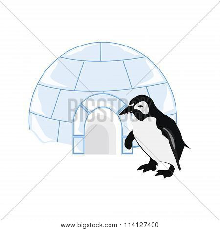 Snow House Igloo And Penguin