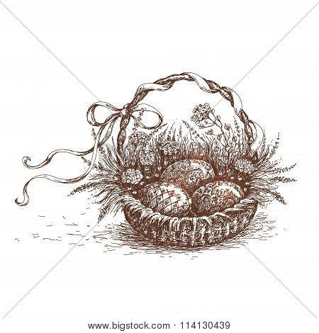 Easter Basket Sketch.