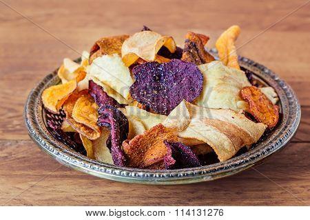 Plate Of Vegetable Crisps