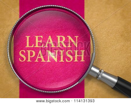 Learn Spanish through Loupe on Old Paper.