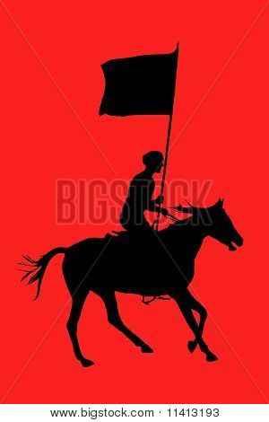 Cossack With A Flag