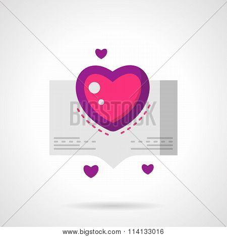 Love confession bright flat vector icon
