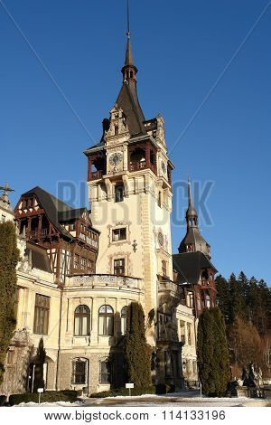 The Peles Palace In Sinaia, Romania.
