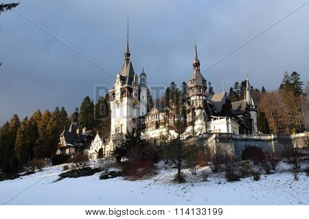The Peles Palace In Sinaia.