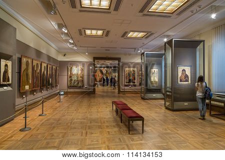 Moscow, Russia - November 5, 2015: The State Tretyakov Art Gallery in Moscow