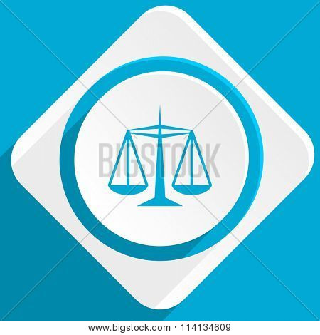 justice blue flat design modern icon for web and mobile app