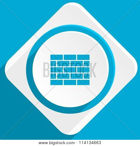 firewall blue flat design modern icon for web and mobile app