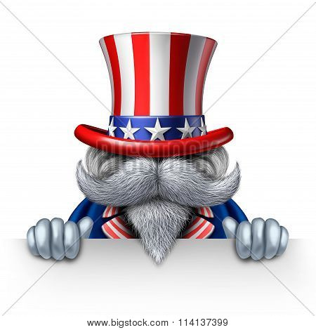 Uncle Sam Horizontal Sign