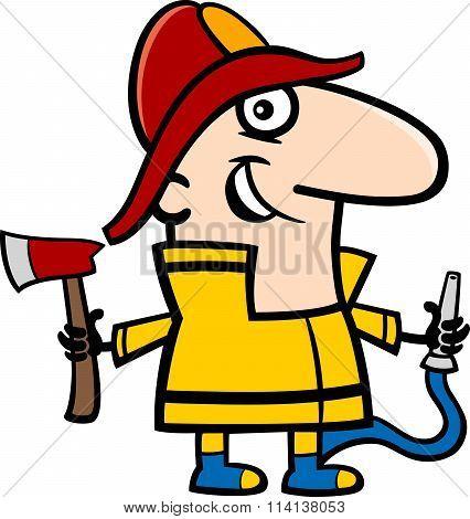 Fireman Cartoon Illustration