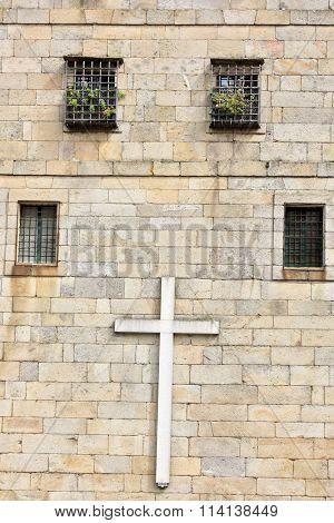 Building facade in Santiago de Compostela