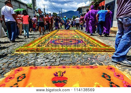 Lent Processional Carpets, Antigua, Guatemala