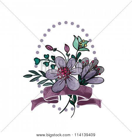 violet floral bouquet