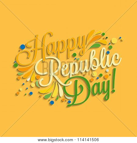 Happy Republic Day Hand Lettering