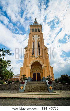 Chicken church in Dalat city, Vietnam