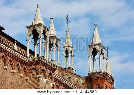 A Typical Italian Gothic Spires