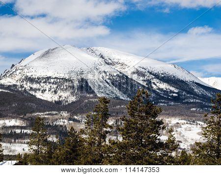 Snowy Mountain Scene in Colorado