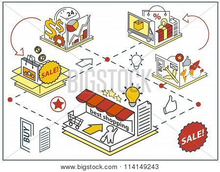 Vector Shopping 3D Icons