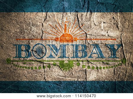 Bombay City Name With Flag Colors Styled Letter O