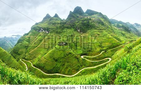 Supply lines and beautiful craggy Vietnam