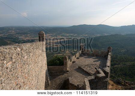 Landscape outside the Marvao Castle
