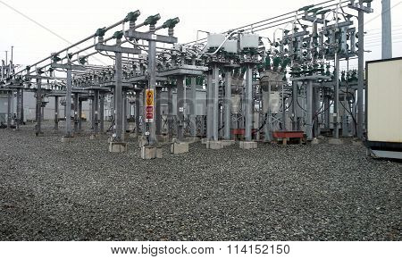 An electric power substation to generate electricity