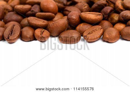 Coffee Beans On White.