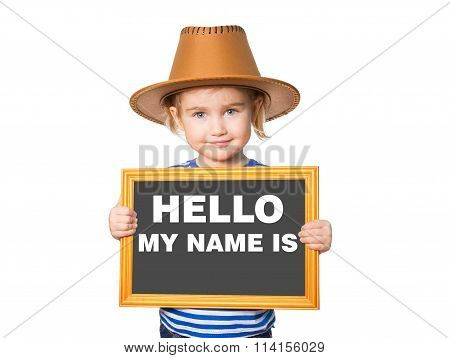 Text Hello My Name Is.