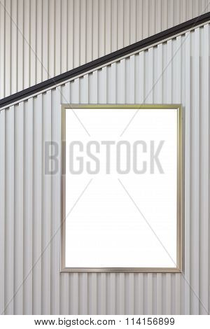 Blank large billboard for advertising on building wall