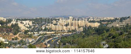 Modern Jerusalem Panorama View
