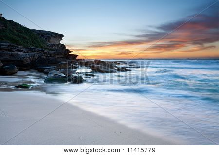 Australian Beach At Dawn