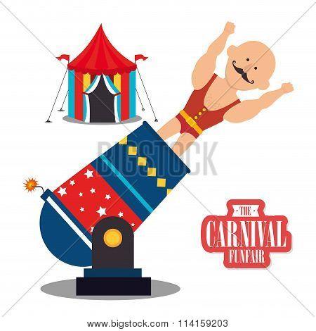 Circus carnival funfair