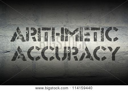 Arithmetic Accuracy Gr