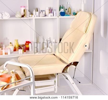 Interior of cosmetology salon.