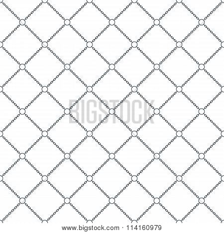 Chain Seamless Pattern Background