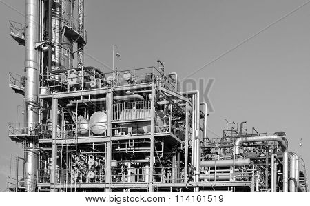 Industrial view of Petrochemical industrial plant at industry zone
