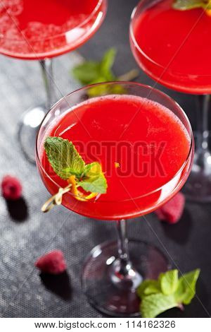 Strawberry Margarita with Mint