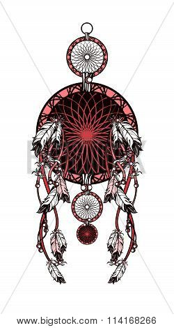 Indian Dreamcatcher Of Shaman