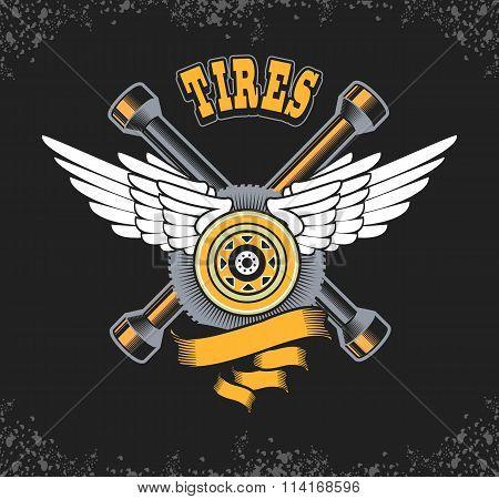 Tire Retro Emblem