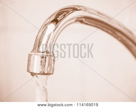 Tap With Water Vintage