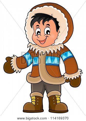 Inuit theme image 1 - eps10 vector illustration.