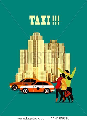 City Taxi Poster