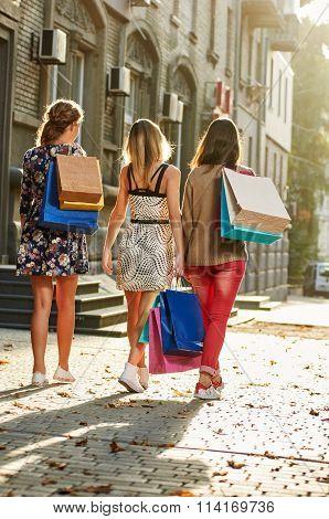 Women Going after shopping