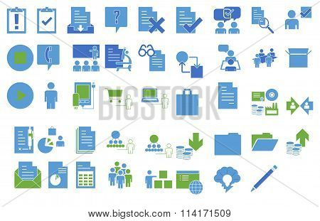 set of technology icons- vector illustration
