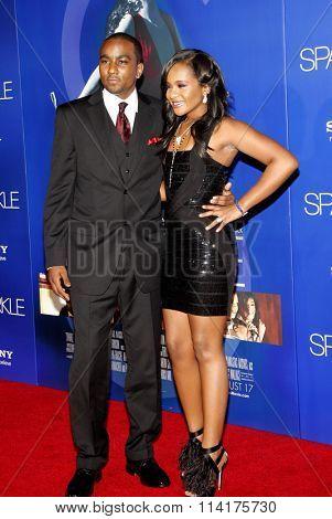 Nick Gordon and Bobbi Kristina Brown at the Los Angeles premiere of