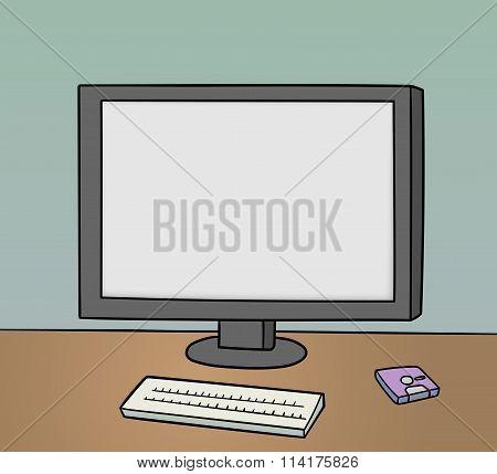 Blank Monitor Background