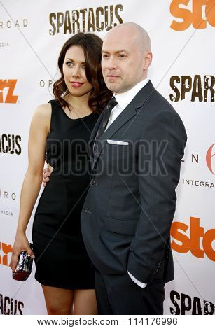Steven S. DeKnight at the Starz Celebrates Kirk Douglas held at the Academy of Television Arts & Sciences Goldenson Theater in Los Angeles, California, United States on May 31, 2012.