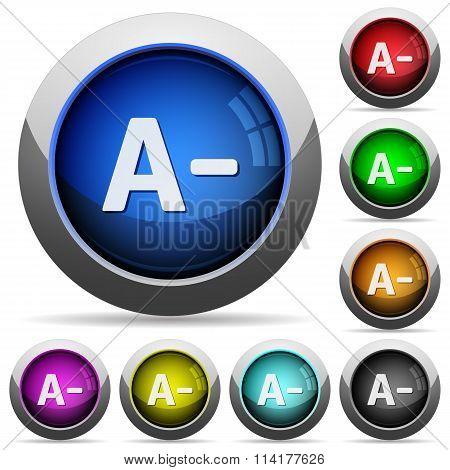 Decrease Font Size Button Set