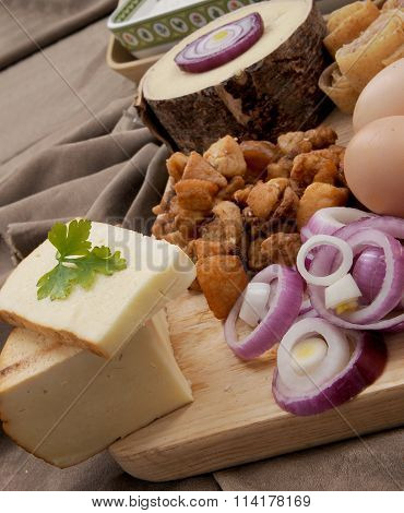 Appetizer in traditional romanian food